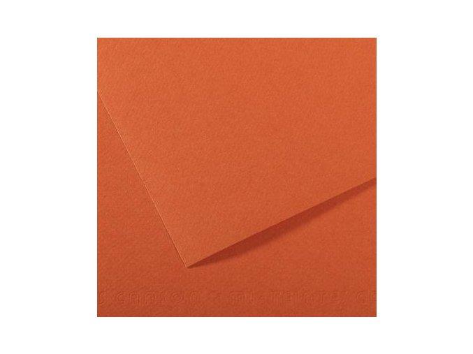 Pastelový papír 160g - č.115  Oranžová mystik