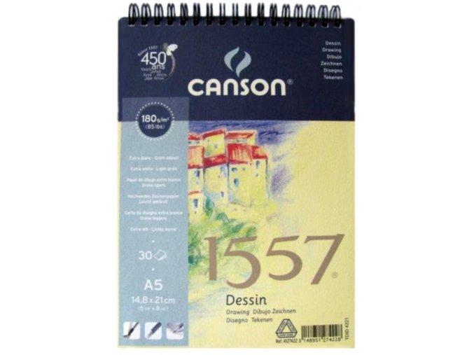 Blok kreslící 180g Canson  hrad - A3 spirála