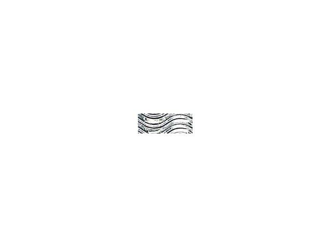 Vlnitě vlnitý karton 250g - Stříbrná metalická