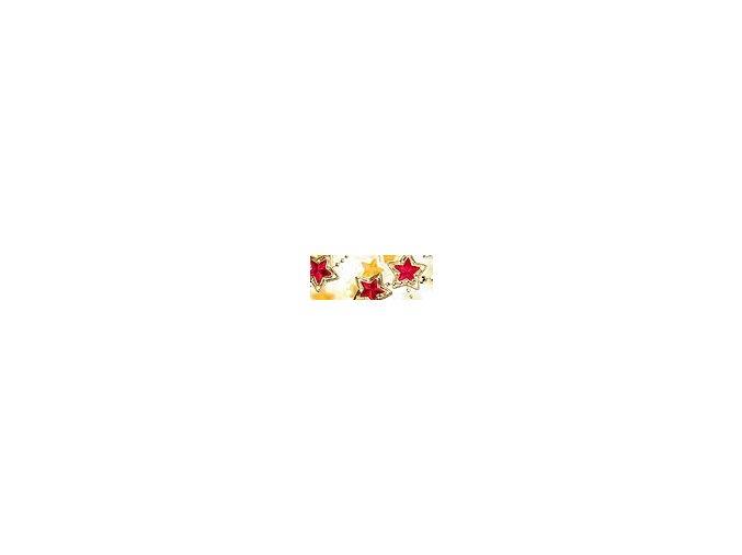 Motiv transparentní papír 50 x 70cm - Hvězda červená, 115g