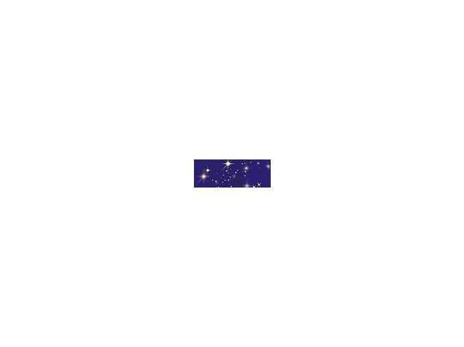 Motiv transparentní papír 50 x 70cm - Noční obloha, 115g