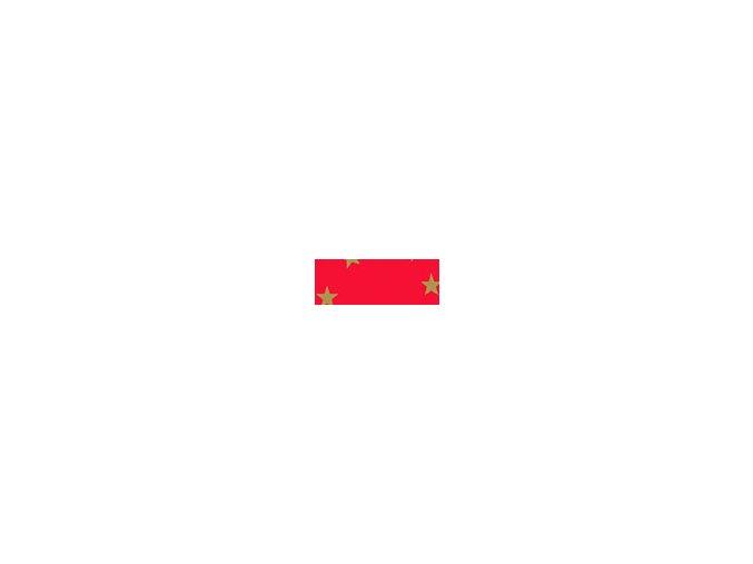 Motiv karton - Hvězda červený 300g