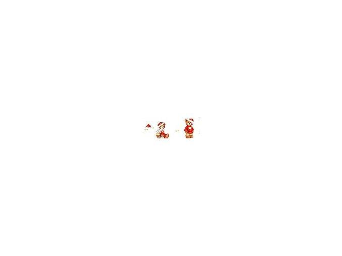 Motiv karton - Vánoce medvídek 270g