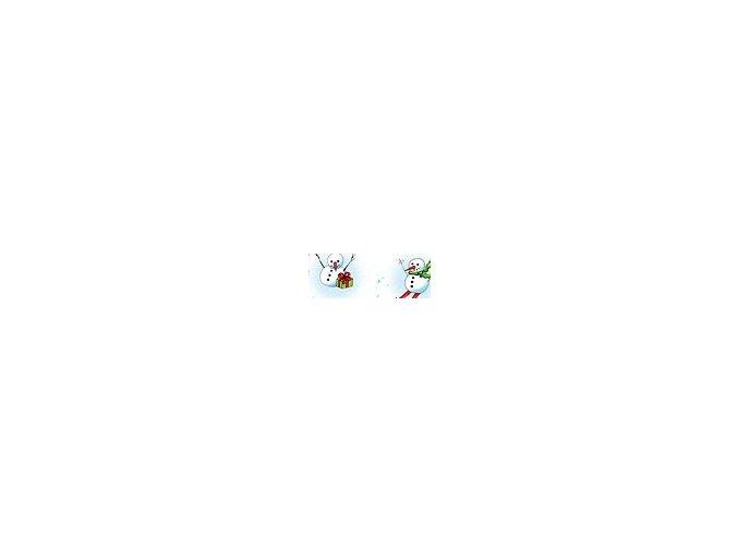 Motiv karton - Vánoce sněhulák 270g