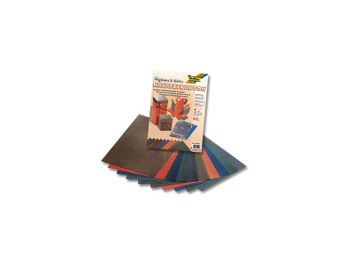 Sada barevný karton 23 x 33cm/230g - Imitace žabí kůže
