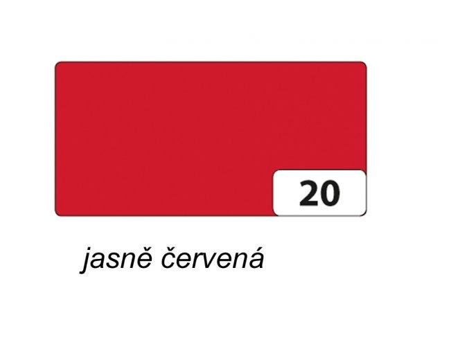 Barevný papír 130g - 20 Jasně červená
