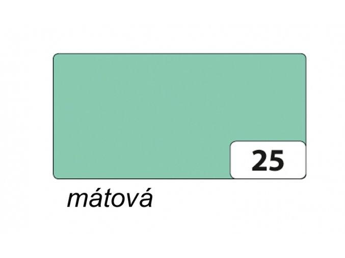 Barevný papír 300g - 25  mátová