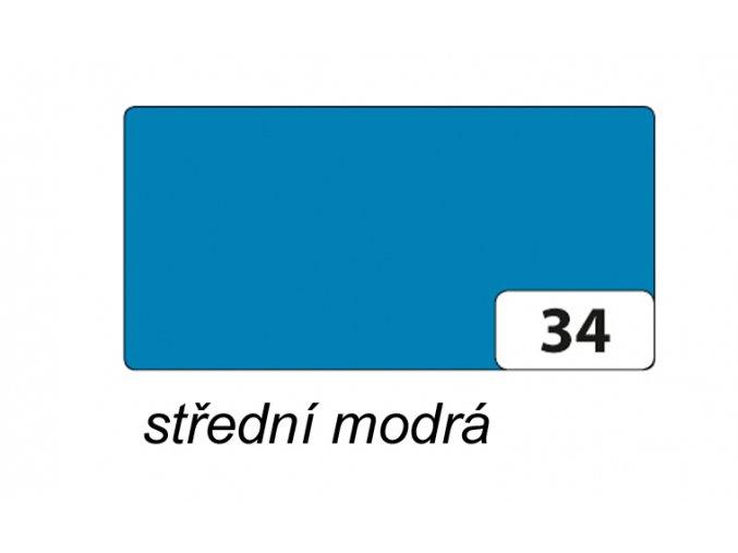 Barevný papír 130g - 34  Modrá střední