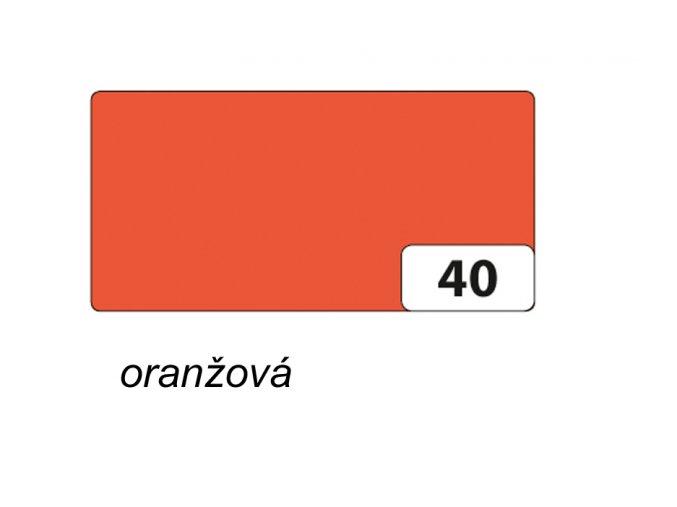 Barevný papír 130g - 40  Oranžová