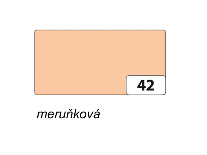 Barevný papír 300g - 42 Meruňková