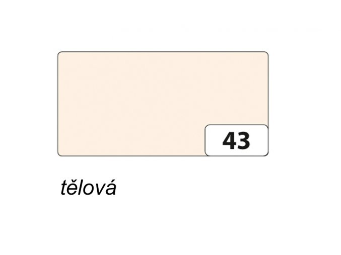 Barevný papír 130g - 43 Tělová