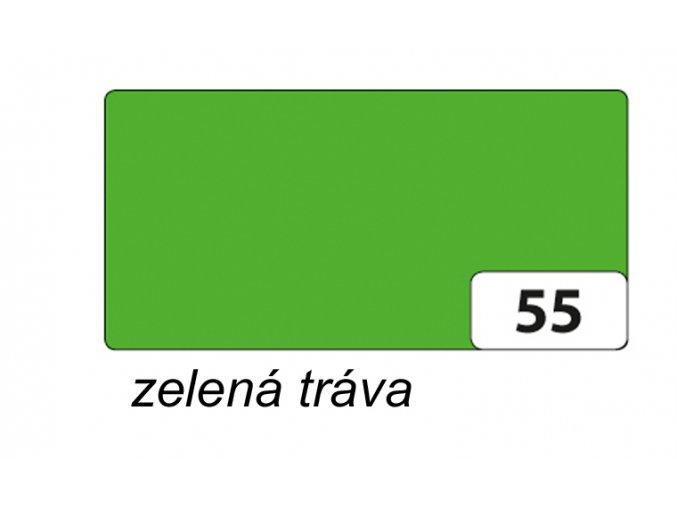 Barevný papír 130g - 55  Zelená tráva