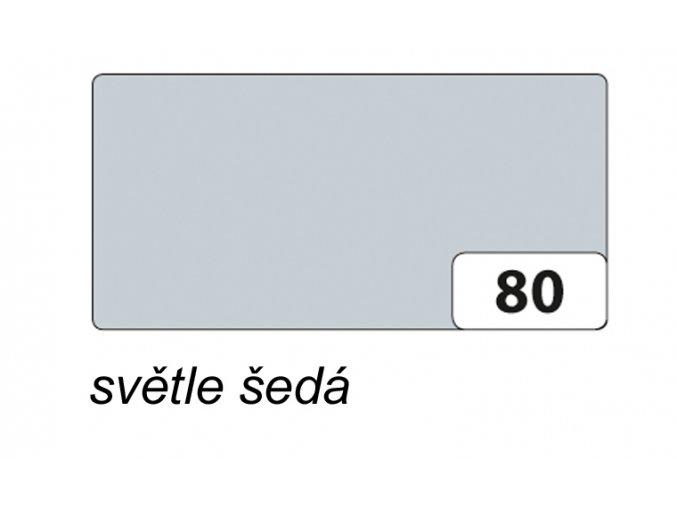 Barevný papír 130g - 80  Šedá světlá
