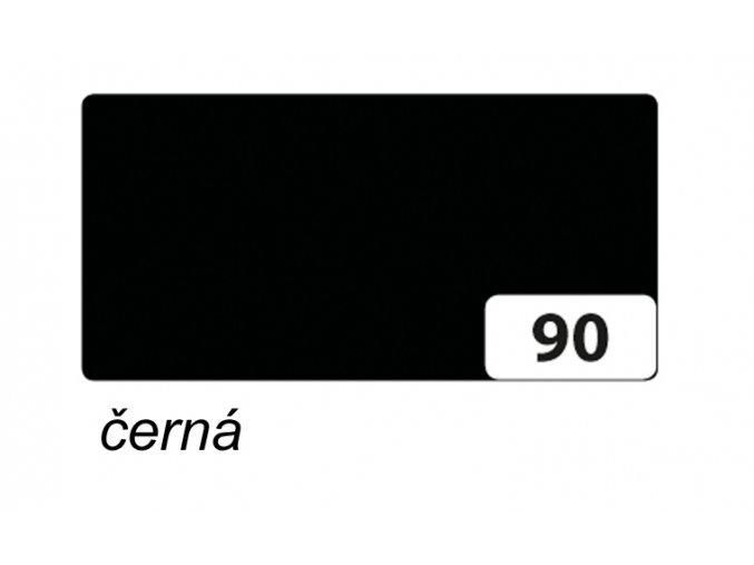 Barevný papír 130g - 90  Černá