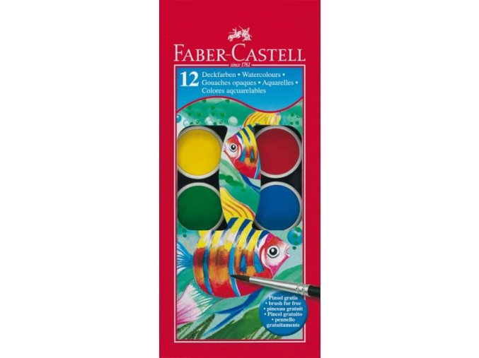 Školní vodové barvy 12x24mm Faber-Castell