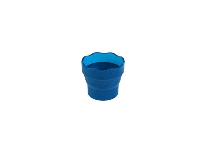 Kelímek na vodu CLICK&GO, Modrý - Faber-Castell