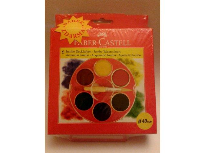 Školní vodové barvy JUMBO 6x40mm Faber-Castell