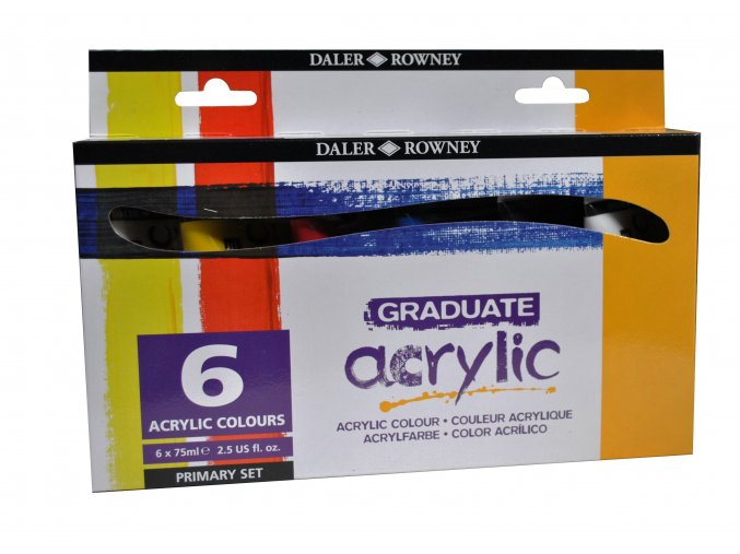123 900 026 Graduate Acrylic Primary Set 6x 75ml