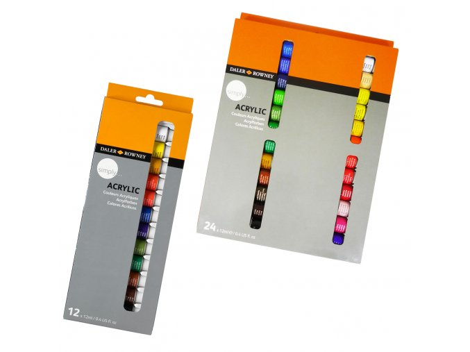 Sada akrylové barvy Daler-Rowney Simply 24x12ml tuby