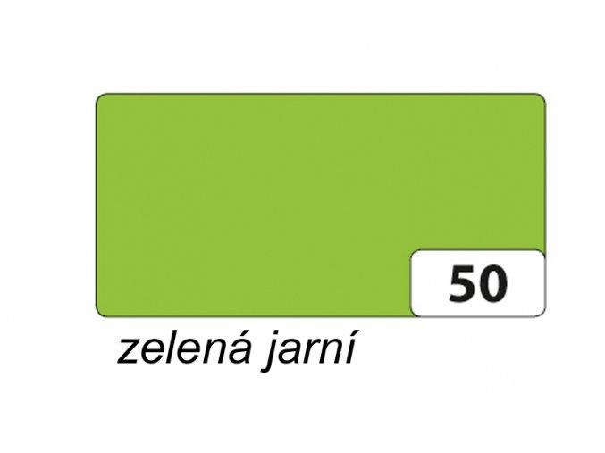 Barevný papír 130g - 50 Zelená jarní