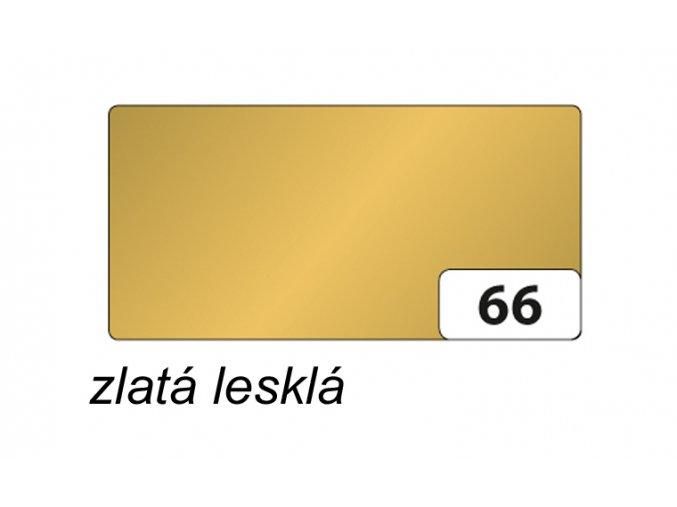 Barevný papír - 66 Zlatá lesklá