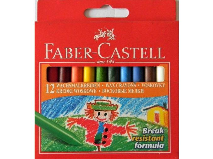 Sada 12 školních voskových pastelů kulaté Faber-Castell
