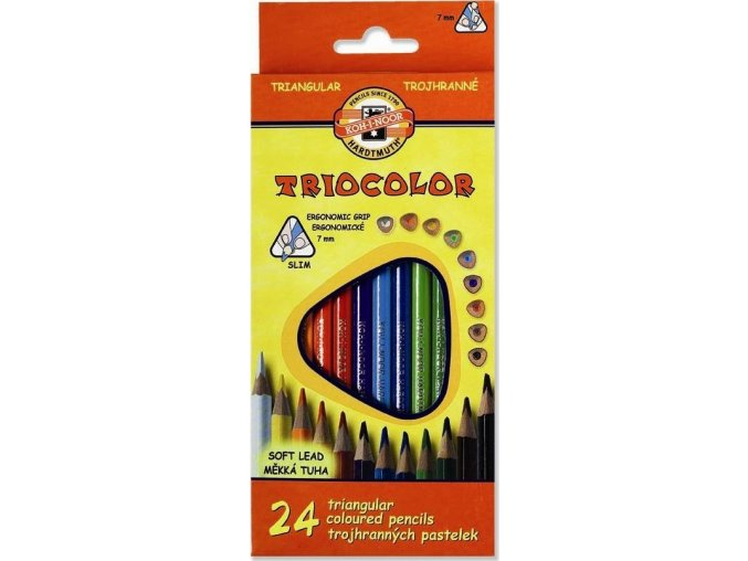 Sada 24 školních pastelek TRIOCOLOR Koh-i-noor