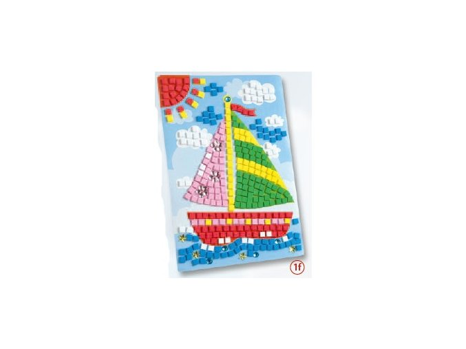 Mozaika z mechové gumy 405 dílů - loď