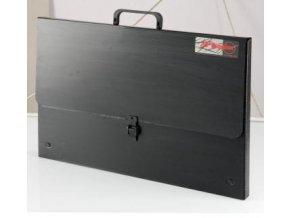 Taška na výkresy z polypropylenu B3 - černá, 52x36,5x3cm