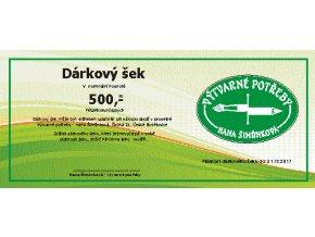 Dárkový šek 500 Kč - Výtvarné potřeby Hana Šimůnková
