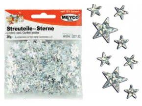 Dekorační hvězdičky stříbrné