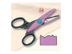Dekorační nůžky fialové - Vlnka a zoubek