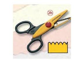 Dekorační nůžky žluté - Vlnky