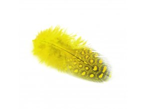 Flaušová peříčka 6/8 cm, 24 ks - žlutá