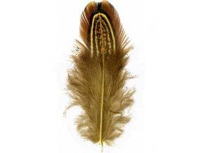 Flaušová peříčka 6/8 cm, 22 ks - žlutá