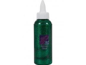 Glittrové lepidlo 120 ml. - 220 zelená tmavá