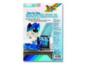 Hobby filc 20x30cm - sada 10ks modrá