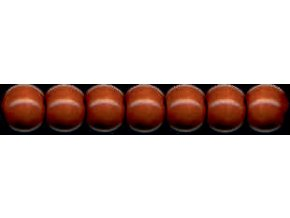 Dřevěné korálky lakované 10mm, 56ks - hnědé