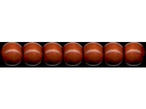 Dřevěné korálky lakované 12mm, 35ks - hnědé