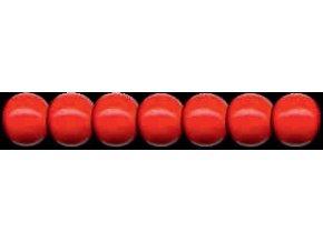 Dřevěné korálky lakované 10mm, 56ks - červené