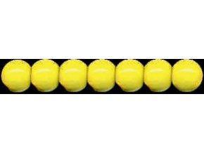 Dřevěné korálky lakované 10mm, 56ks - žluté