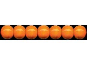 Dřevěné korálky lakované 10mm, 56ks - oranžové