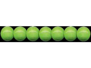 Dřevěné korálky lakované 10mm, 56ks - zelená světlá