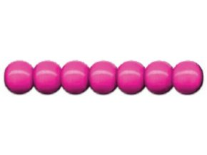Dřevěné korálky lakované 12mm, 35ks - růžové