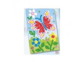 Mozaika z mechové gumy 405 dílů - motýl