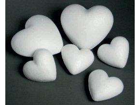 Polystyrenové srdce - 9cm