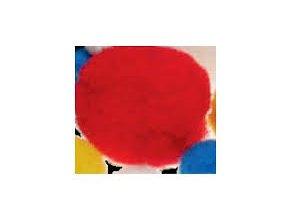 Pompons 10mm červená