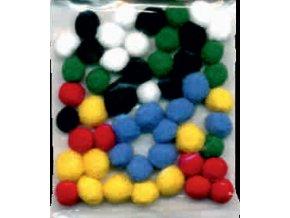 Pompons - 10mm - barevný mix