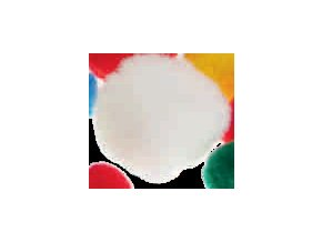 Pompons - 20mm - bílá