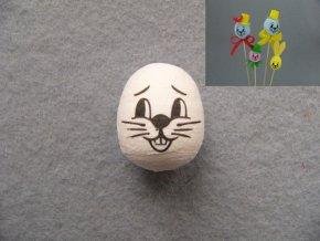 Vatové vejce s potiskem  - 4cm bílé